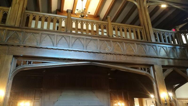 Inside Hatley Castle stock photography
