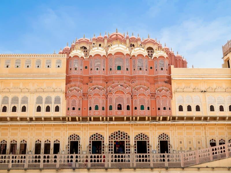 Hawa Mahal, the Palace of Winds, Jaipur, Rajasthan, India. Inside of Hawa Mahal, the Palace of Winds, Jaipur, Rajasthan, India stock photo