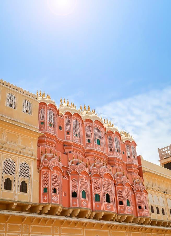 Hawa Mahal, the Palace of Winds, Jaipur, Rajasthan, India. Inside of Hawa Mahal, the Palace of Winds, Jaipur, Rajasthan, India stock image