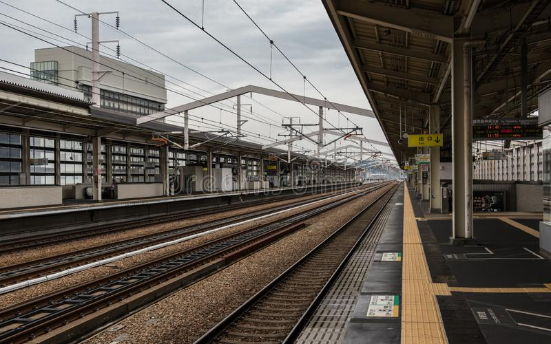 Inside Himeji Main Train Station on a clear day. Himeji, Hyogo, Japan, Asia stock photography