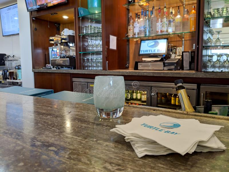 Inside Hotel Bar stock image