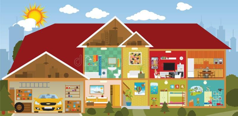 Inside the house vector illustration