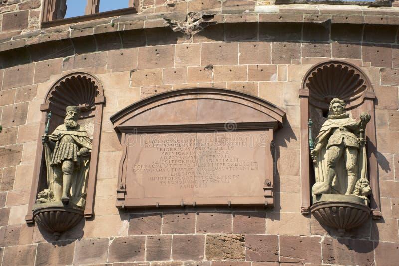 Inside i wystroju Heidelberg kasztel Schloss w Niemcy lub Heidelberger obraz royalty free