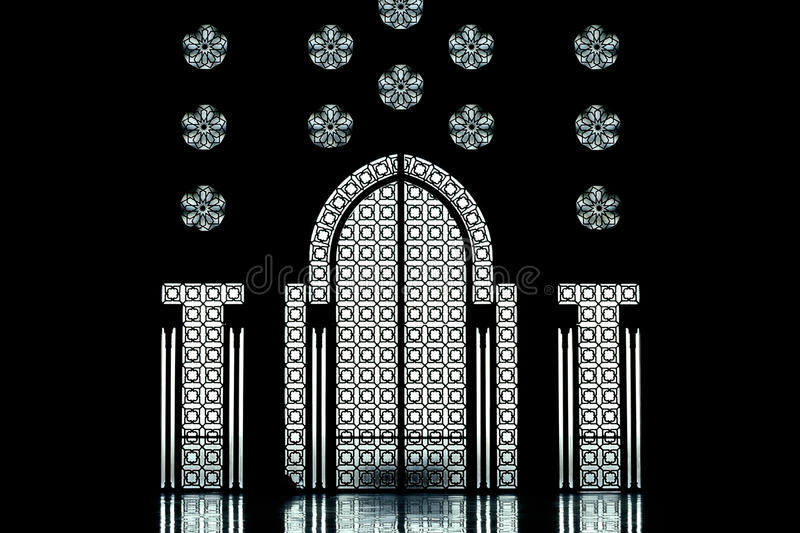 Inside of the II. Hassan Mosque royalty free stock photography
