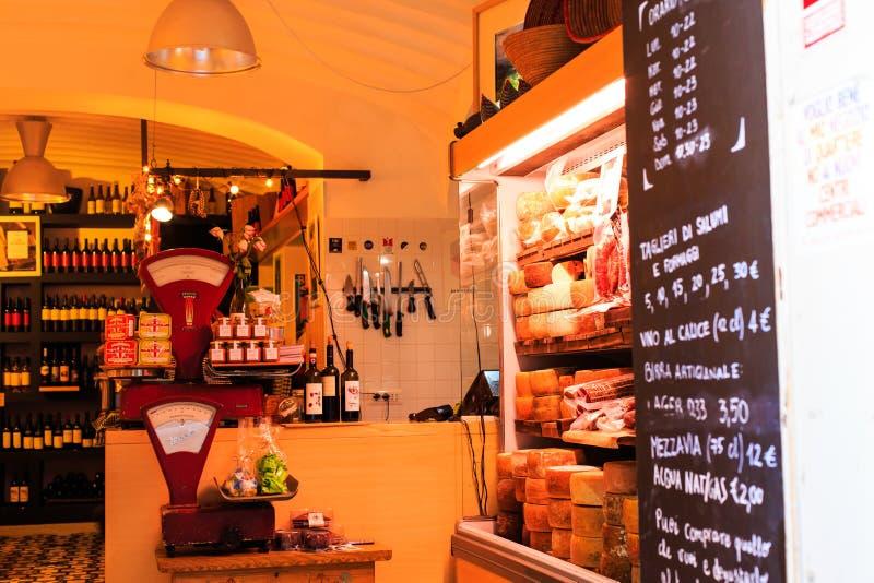 Inside an italian old grocery of Cagliari. A grocery in Cagliari, Sardinia stock photo
