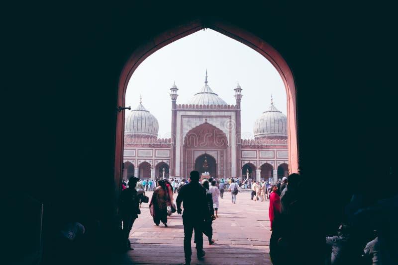 Inside Jama Masjid imagem de stock