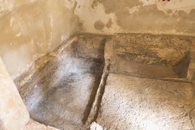 Inside jesus christ tomb israel royalty free stock image