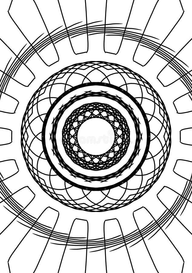Inside a jet engine illustration vector illustration