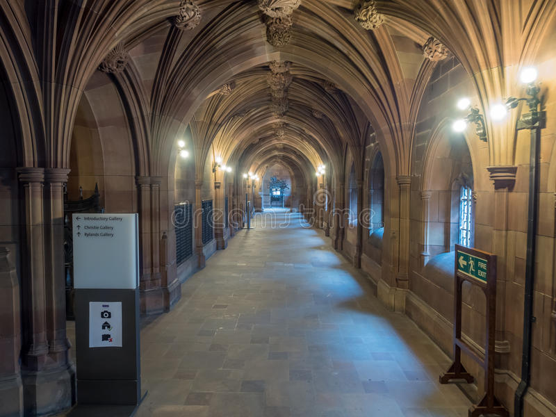 Inside of John Rylands Library in Manchester stock image