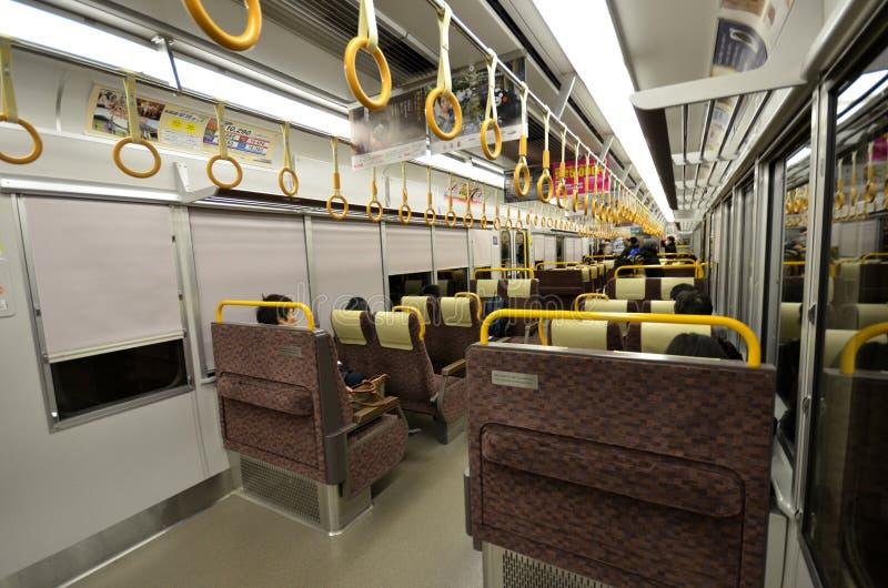 Inside jr pociąg odjeżdża od Kyoto staci obrazy royalty free