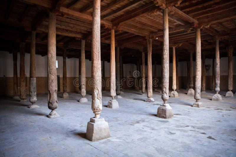 Inside Juma Friday Mosque in Khiva stock image