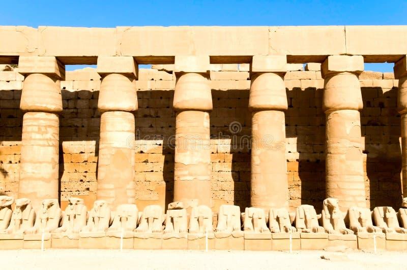 Download Inside Karnak temple stock photo. Image of paint, luxor - 14238470