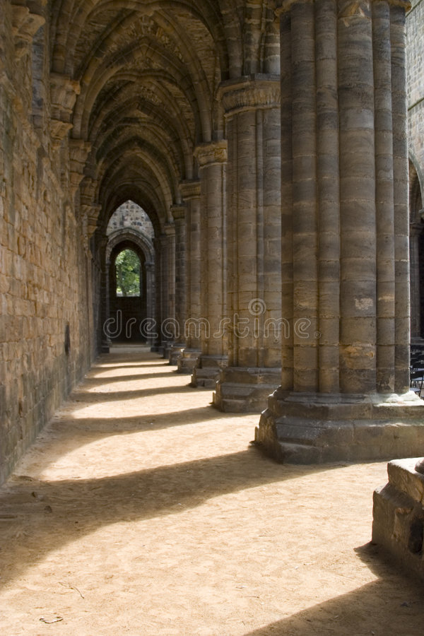 Download Inside Kirkstall Abbey, Leeds, West Yorkshire Stock Photo - Image: 1410714