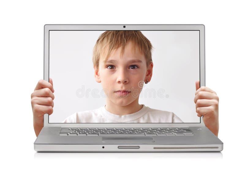 Inside laptop stock photography