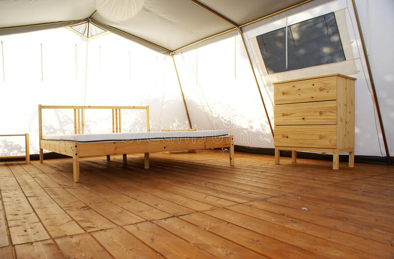 Inside A Large Luxurious Tent Royalty Free Stock Photography