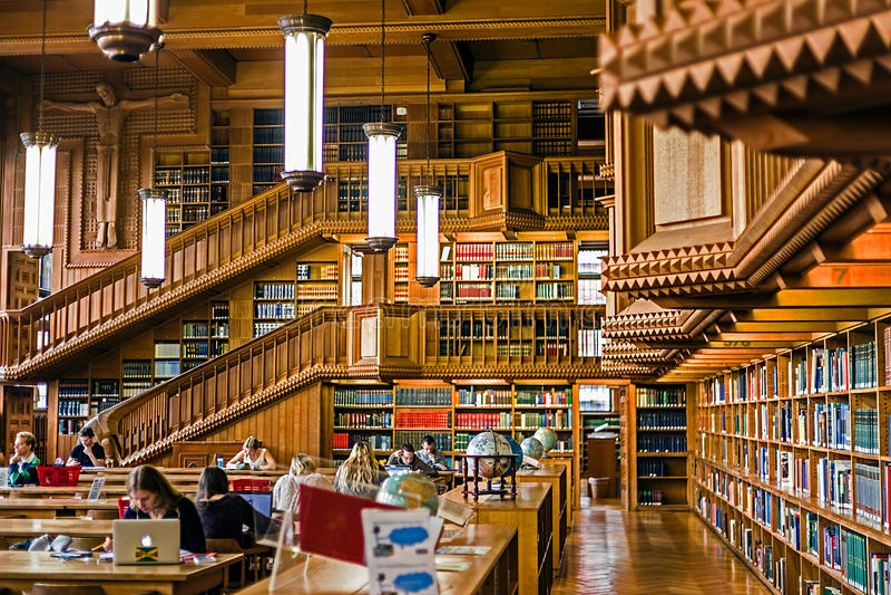 Inside the library of the university of Leuven, Belgium 6 stock photo