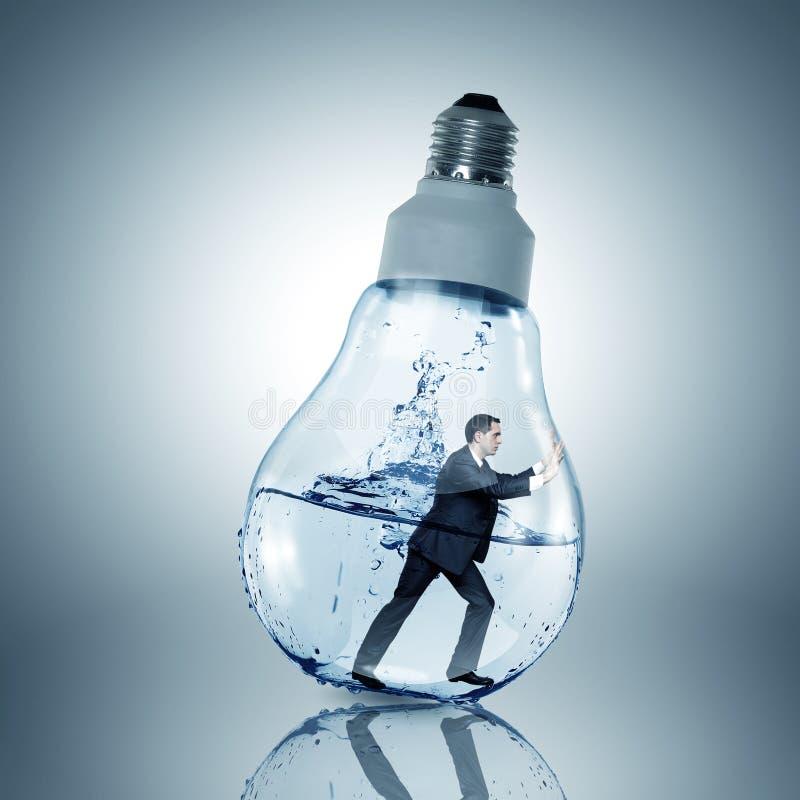 Free Inside Light Bulb Royalty Free Stock Image - 58869516