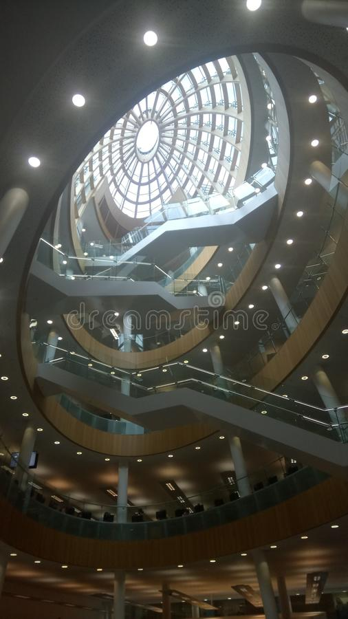 Inside Liverpool library royalty free stock photography