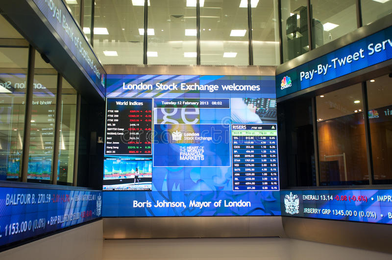 Download Inside The London Stock Exchange Editorial Stock Photo - Image of london, science: 29688658