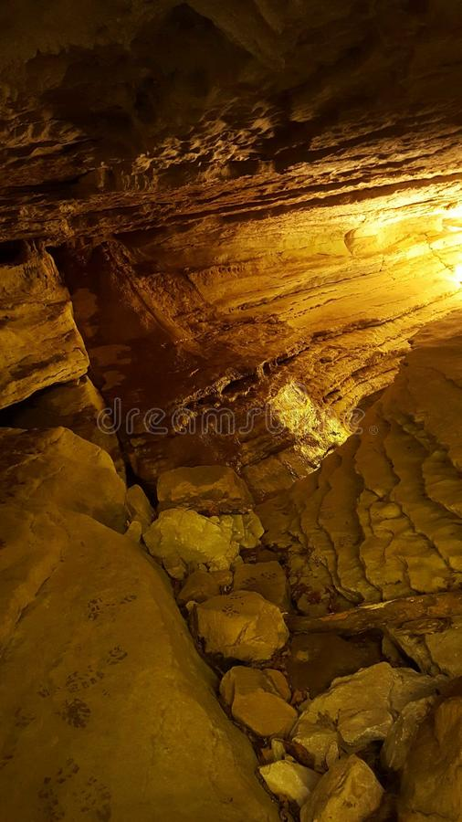 Cave light stock photo