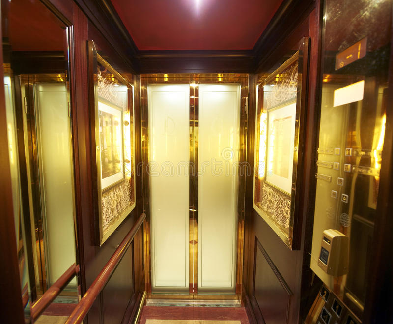 Inside luxury elevator stock photo image of home buttons for Luxury home elevators