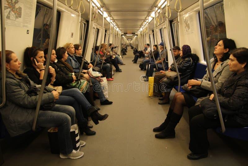 Inside metro stock photo