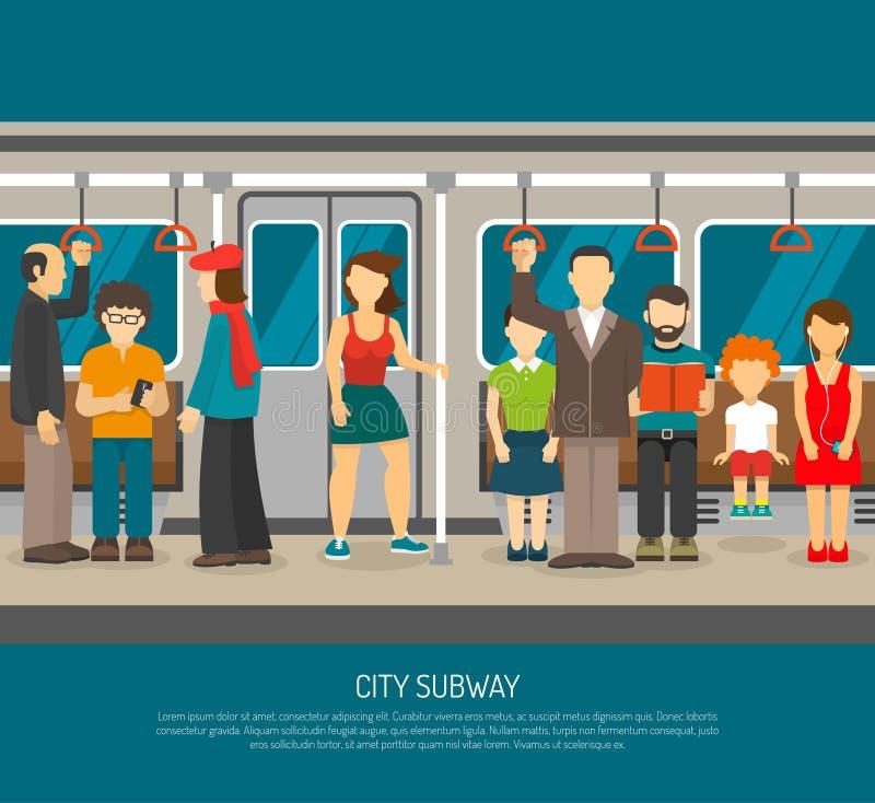 Inside metro plakat ilustracja wektor