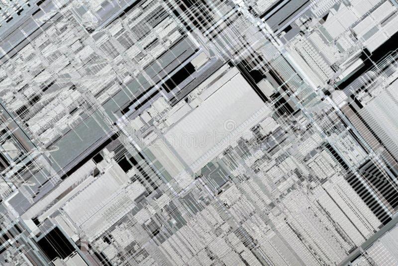 Inside Microprocessor Architecture stock photo