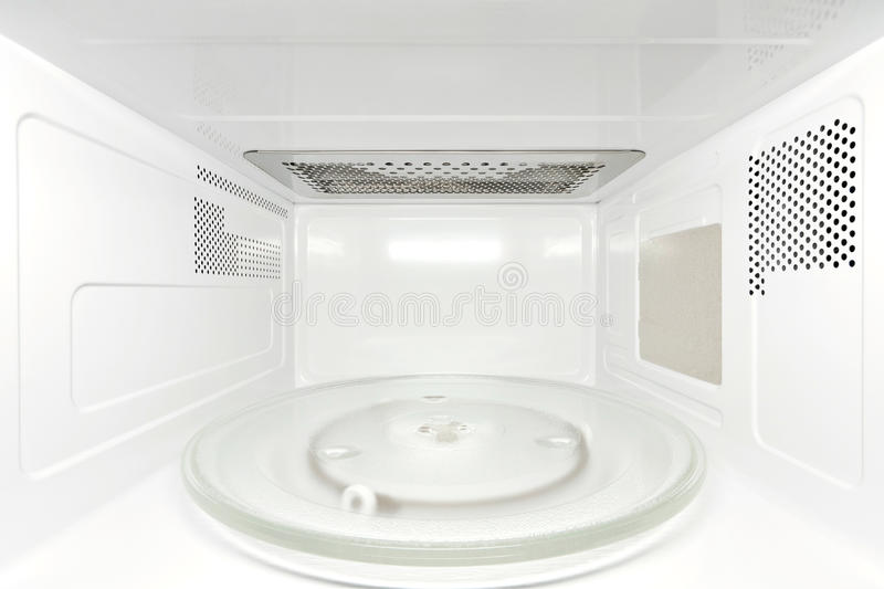 Inside Microwave Oven Frontal View Stock Photo Image