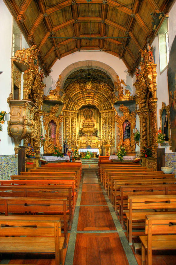 Download Inside Misericordia Church, In Caminha Stock Image - Image: 66709489