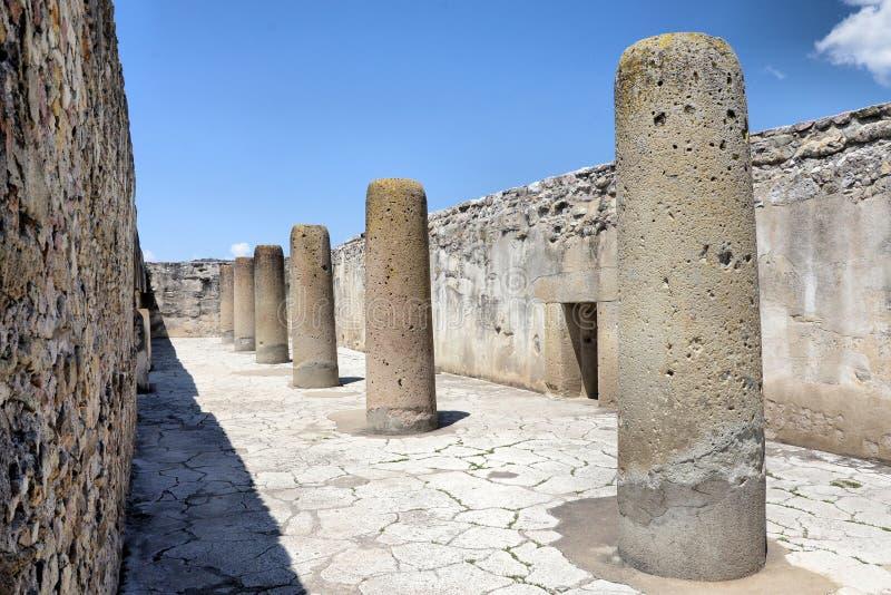 Inside Mitla ruins. Ancient Pyramids of Mitla, Oaxaca Mexico stock photo
