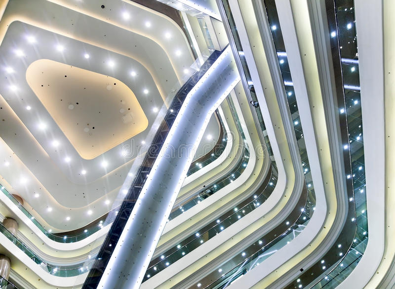 Inside modern building