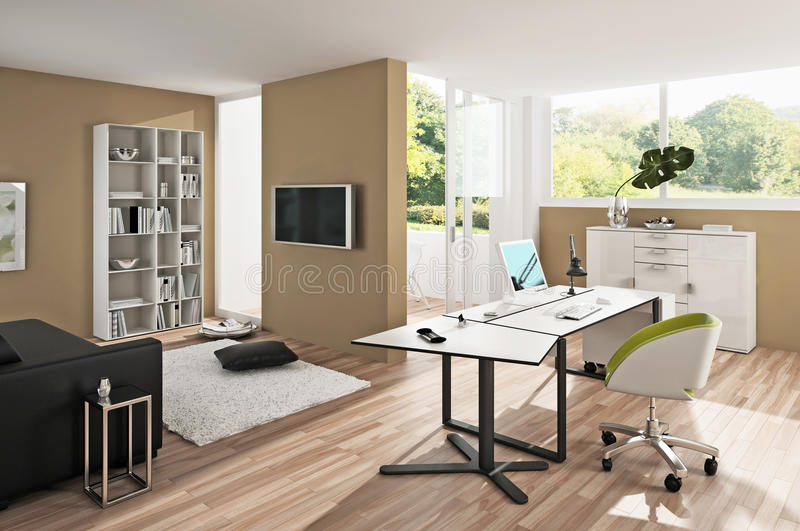 Download Inside a modern office stock image. Image of couch, brown - 16633783