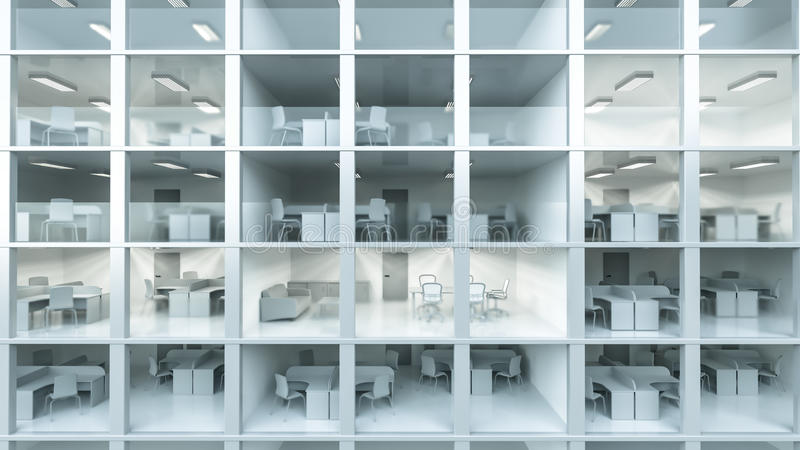 Inside modern office building royalty free illustration