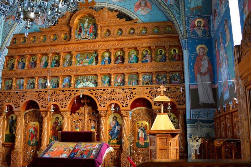 Inside Monastery Sambata. Fagaras, Transylvania. Monastery Sambata is a Romanian Orthodox monastery in Sâmbăta de Sus, Brașov County, in the royalty free stock photo