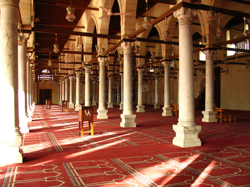 Inside of mosque stock images