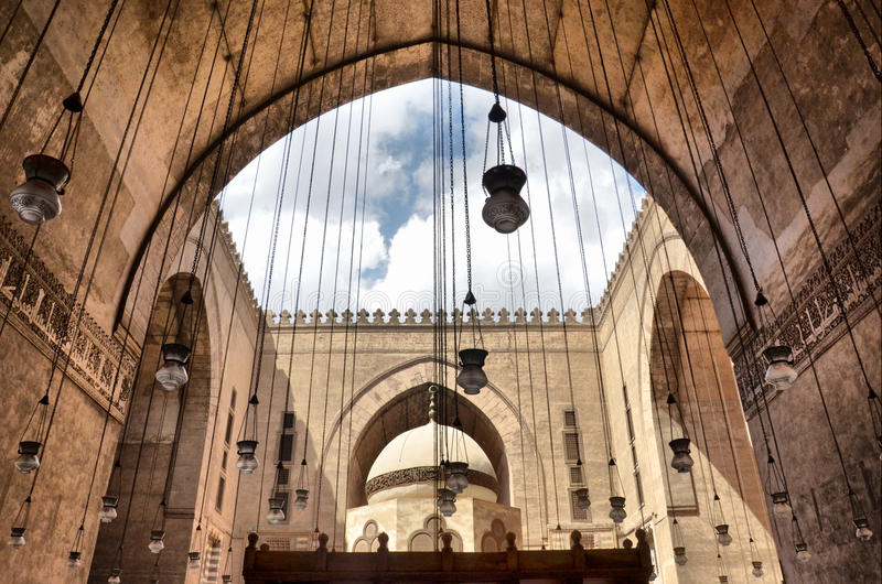 Download Inside The Mosque Of Sultan Hasan Stock Image - Image: 20125303