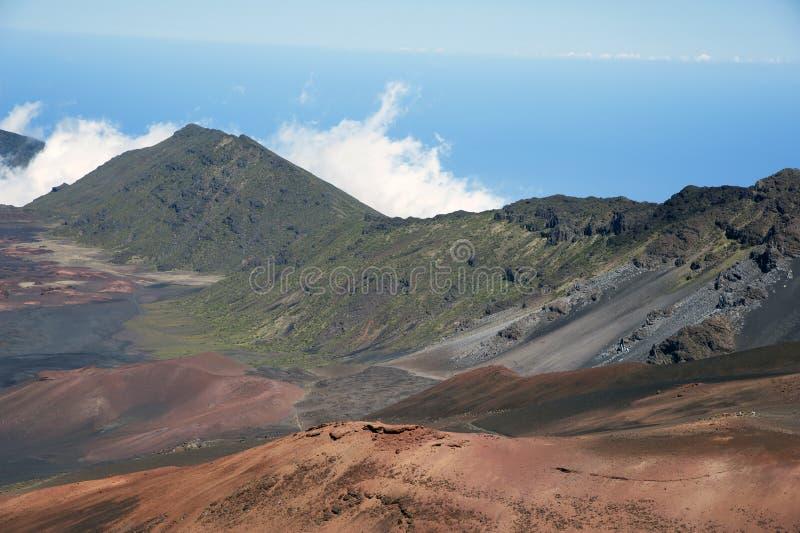 Inside Mount Haleakala in Maui Hawaii stock photography