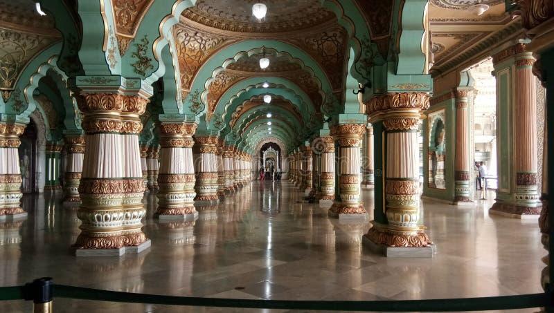 Inside the Mysore palace royalty free stock photography