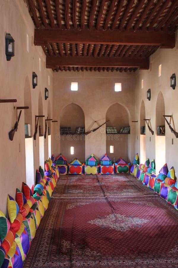 Inside Nizwa Fort Castle, Oman stock photos