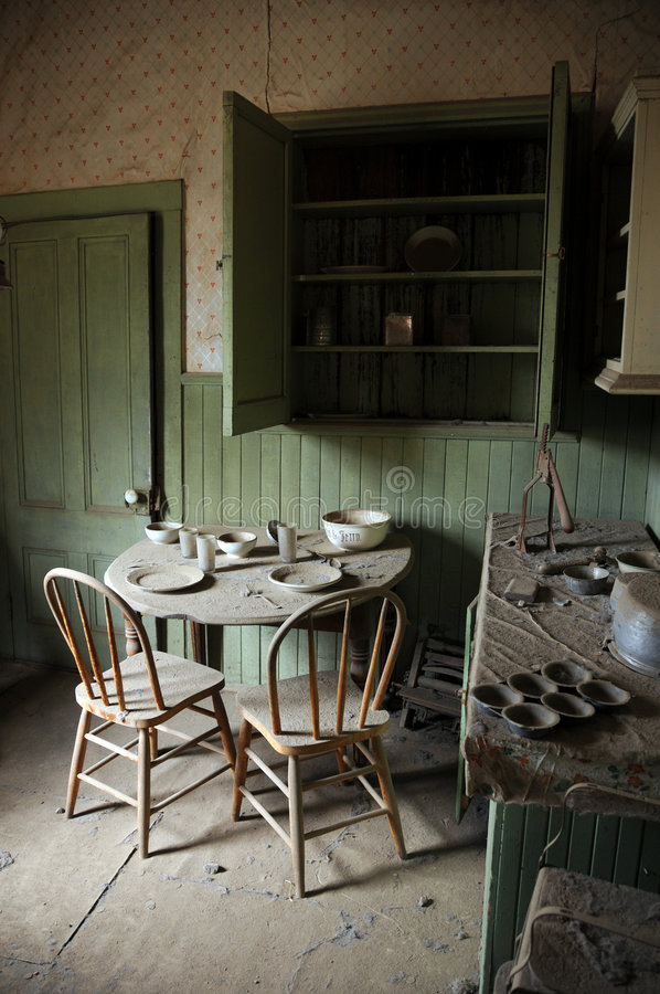 Inside an old house stock photography