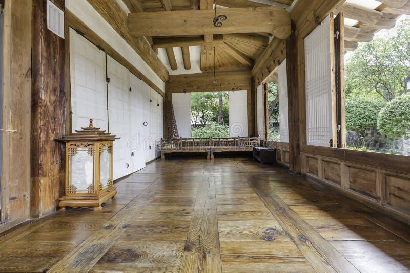 Inside the Old House at Namsangol Hanok Village stock photography