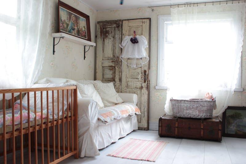 Inside the cottage. Wnętrze starego domu royalty free stock image