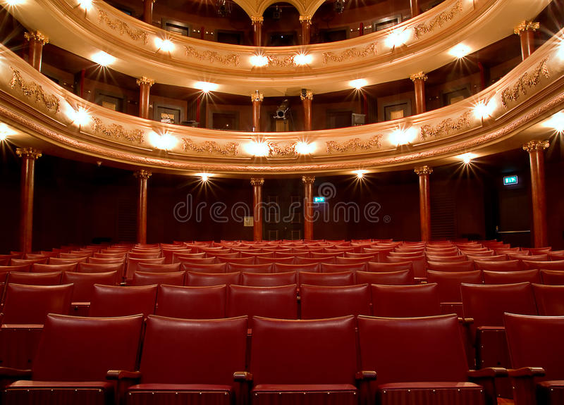 Inside Old Theater Stock Photography