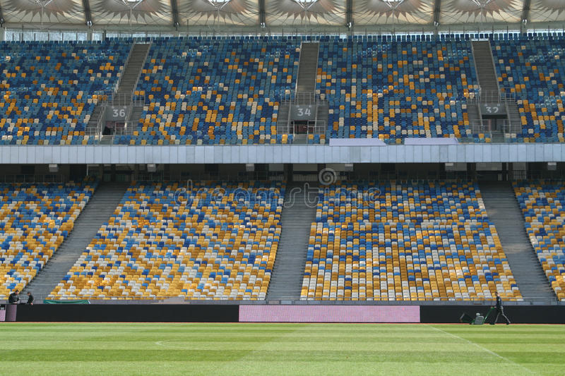 Download Inside The Olympic Stadium In Kiev Stock Photo - Image: 23961846