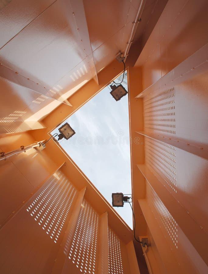 Inside An Orange Triangle Royalty Free Stock Photos