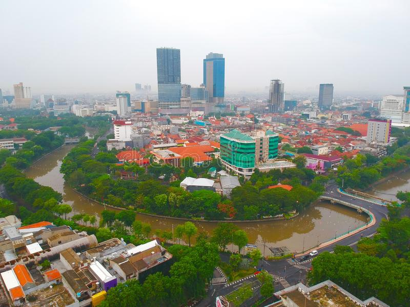 Hotels in Surabaya, the outdoor scenery is so charming. Inside and outside the hotel you can enjoy a very complete view. starting from the existence of parks royalty free stock images