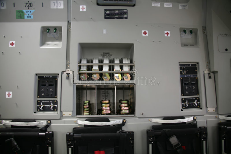 Download Inside Panel Of Military Aircraft C-17 Stock Photo - Image: 1175032