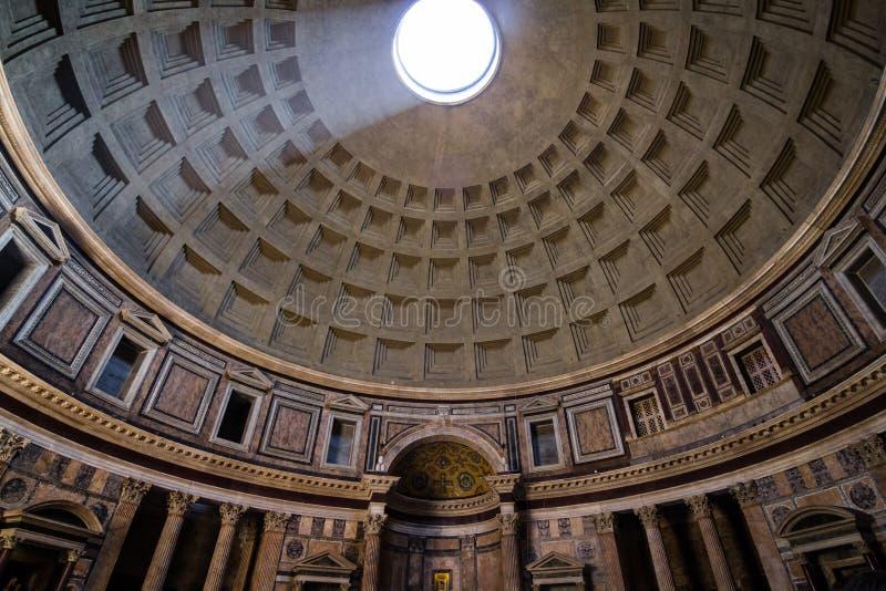 Inside Pantheon stock images