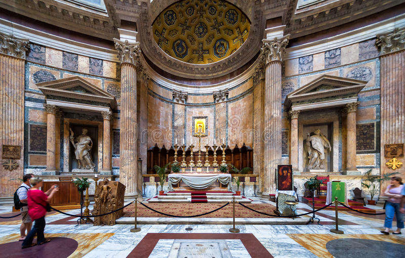 inside the pantheon rome italy editorial stock image image of
